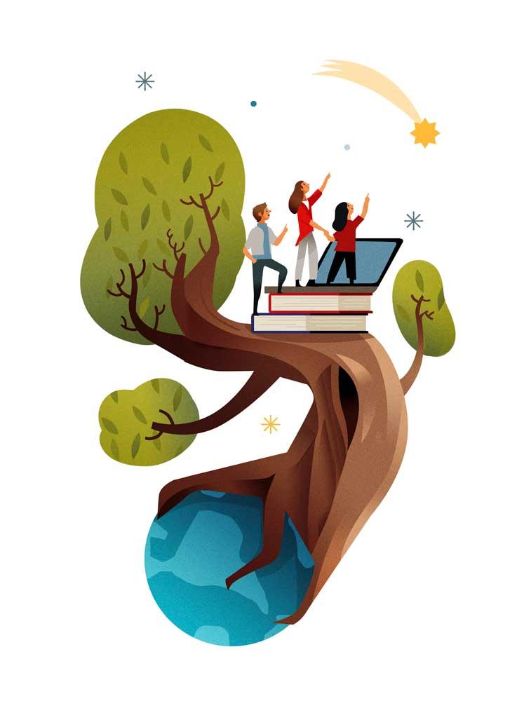 El Libro Abierto de la Vida: Quien a buen árbol se arrima…