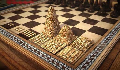 Crecimiento exponencial en un tablero de ajedrez
