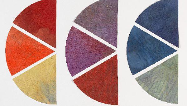 Vassily Kandinsky «Neuf éléments de cercle chromatique », peinture sur papier, 1922-193 Photo © Centre Pompidou, MNAM-CCI, Dist. RMN-Grand Palais / Philippe Migeat