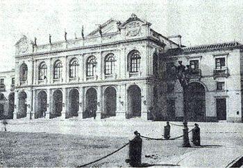 Teatro Municipal de Santiago. Imagen circa 1900.